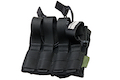 Warrior Assault Systems Double MOLLE Open AK 7.62mm Mag / Bungee Pouch - Black
