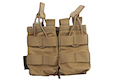 Warrior Assault Systems Double MOLLE Open AK 7.62mm Mag / Bungee Pouch - Coyote Tan