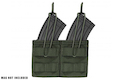 Warrior Assault Systems Double MOLLE Open AK 7.62mm Mag / Bungee Pouch - OD Green
