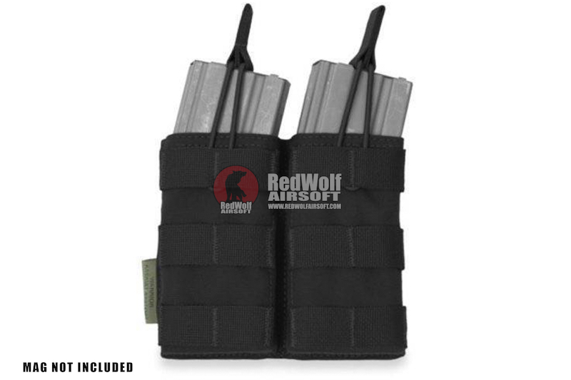 Warrior Assault Systems Double MOLLE Open M4 5.56mm Mag / Bungee Pouch - Black