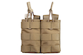 Warrior Assault Systems Double MOLLE Open M4 5.56mm Mag / Bungee Pouch - Coyote Tan