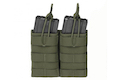 Warrior Assault Systems Double MOLLE Open M4 5.56mm Mag / Bungee Pouch - OD Green