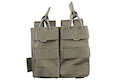 Warrior Assault Systems Double MOLLE Open M4 5.56mm Mag / Bungee Pouch - Ranger Green