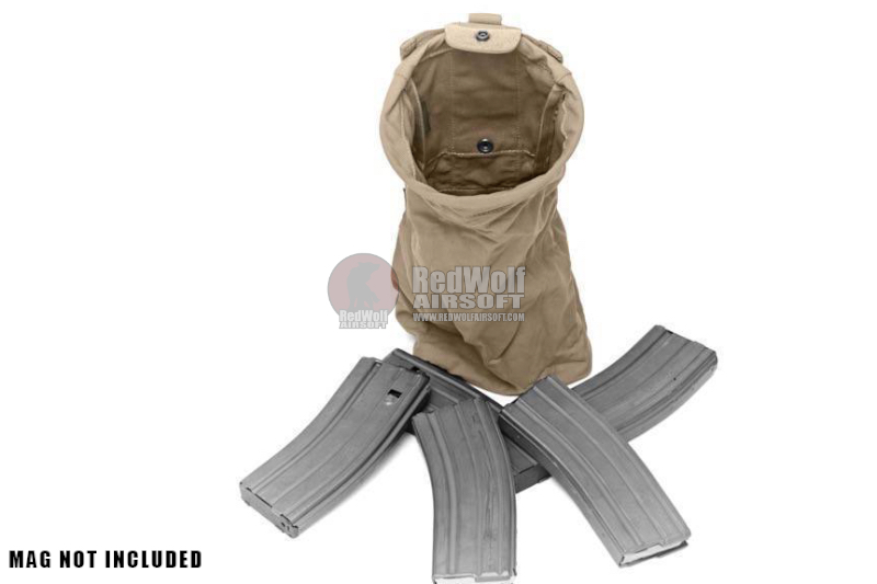 Warrior Assault Systems Slim Line Folding Dump Pouch - Coyote Tan