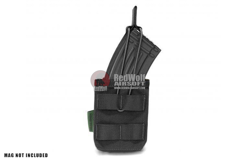 Warrior Assault Systems Single MOLLE Open AK 7.62mm Mag / Bungee Pouch - Black