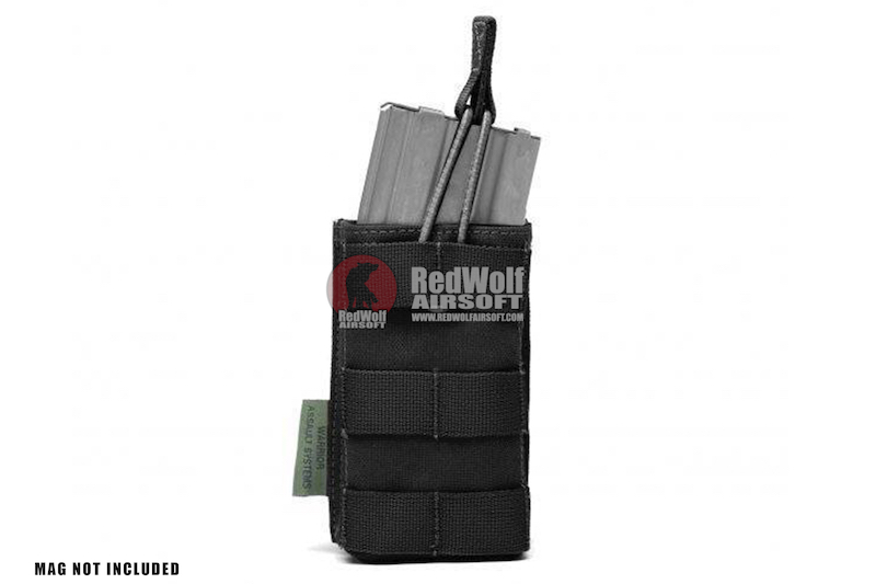 Warrior Assault Systems Single MOLLE Open M4 5.56mm Mag / Bungee Pouch - Black