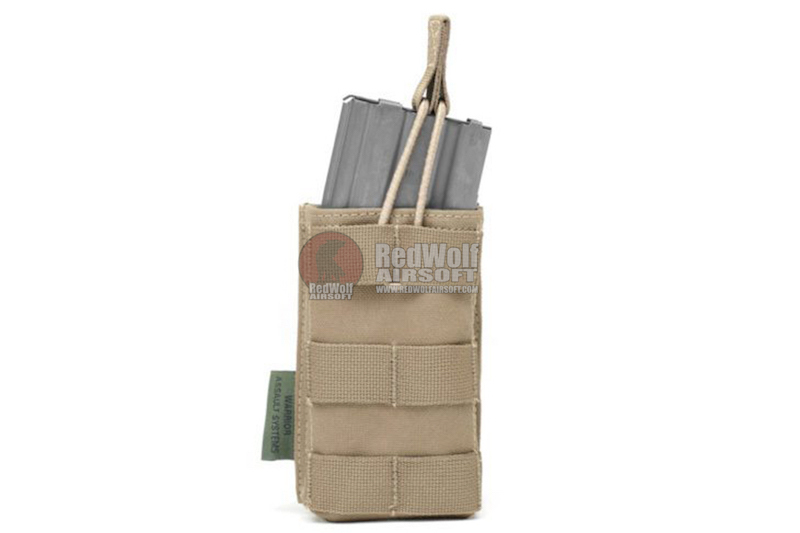 Warrior Assault Systems Single MOLLE Open M4 5.56mm Mag / Bungee Pouch - Coyote Tan