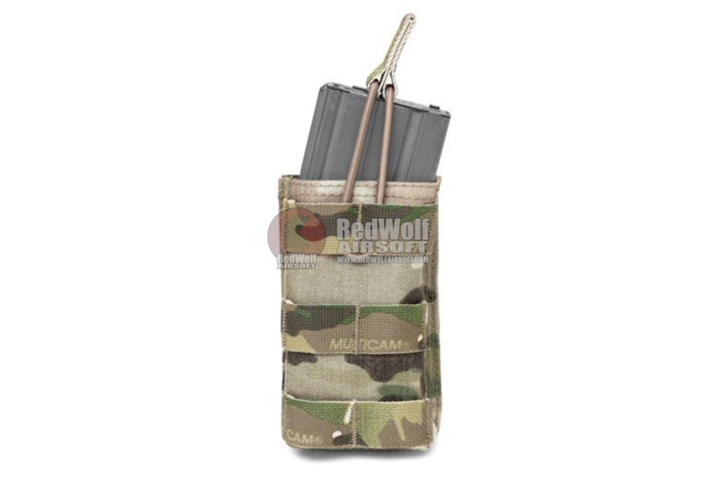 Warrior Assault Systems Single MOLLE Open M4 5.56mm Mag / Bungee Pouch - Multicam
