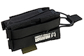 Warrior Assault Systems Single Open M4 5.56mm Mag Pouch with 9mm D/A Pistol Mag - Black