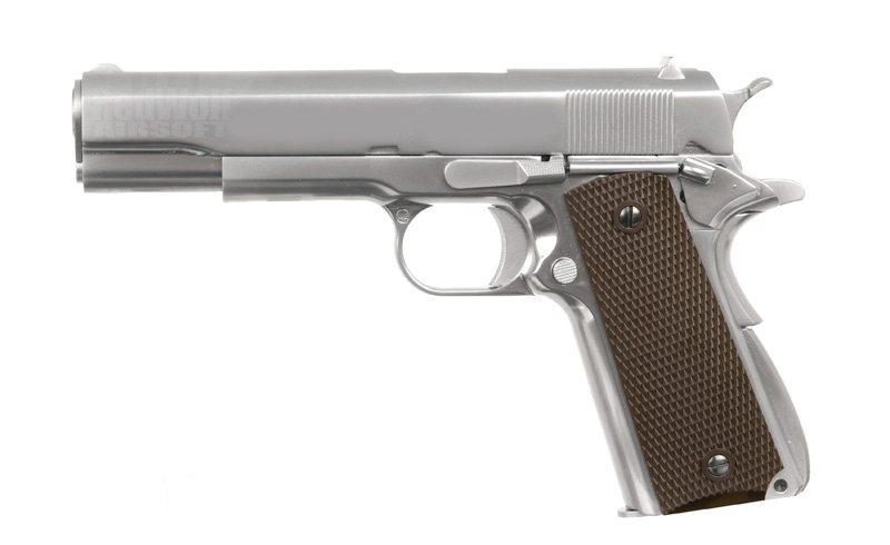 WE Silver 1911 with Brown Grips