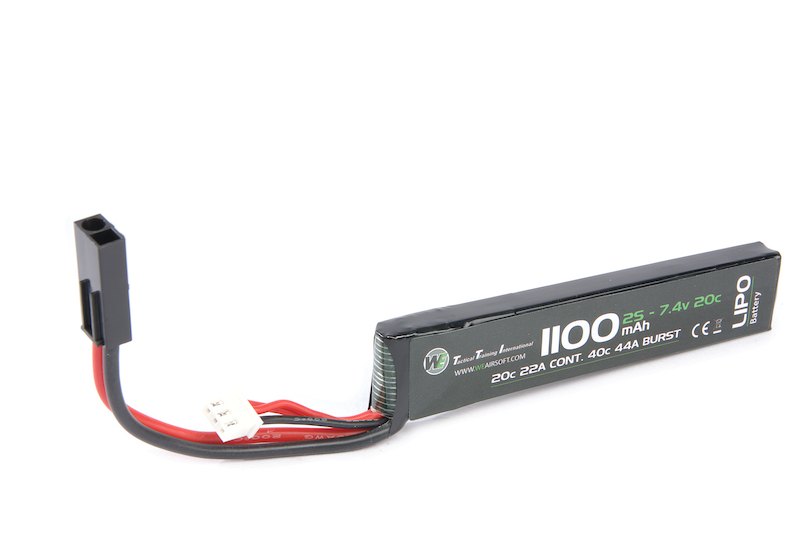 WE 7.4v 1100mAh (20C) Stick Type Lipo Battery