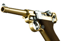 WE Luger P08 4 inch GBB Pistol (Gold)