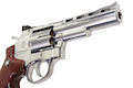 Gun Heaven (WinGun) 701 4 inch 6mm Co2 Revolver (Brown Grip) - Silver