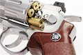 Gun Heaven (WinGun) 702 6 inch 6mm Co2 Revolver (Brown Grip) - Silver