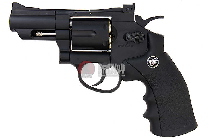Gun Heaven (WinGun) 708 2.5 inch 6mm Co2 Revolver - Black