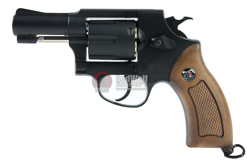 Gun Heaven (WinGun) 731 Sheriff M36 2.5 inch Co2 Revolver - Black (Brown Grip)
