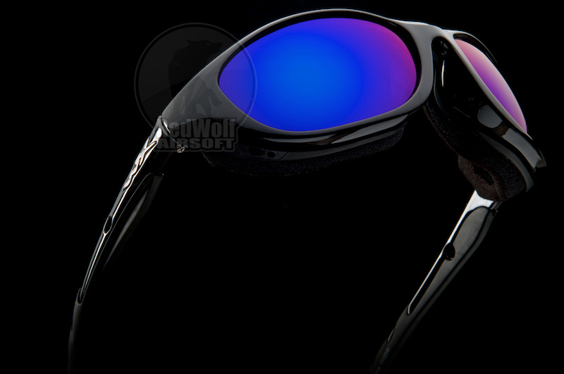 Wiley X AIRRAGE (POL Blue Mirror / Gloss Black Frame)