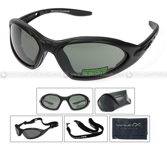 Wiley X Goggle - JP-1 (Interchangeable Smoke Green/Clear)
