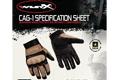 Wiley X CAG-1 Gloves (Small / Coyote Brown) <font color=red>(Export Only)</font> <font color=red>(Free Shipping)</font>