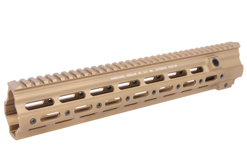 Z-Parts CNC Aluminum 14.5 inch 416 SMR handguard for Systema (from Z-parts) / VIPER / Umarex (VFC) 416 AEG, GBB  - DDC