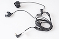 Z Tactical Bone Conduction Headset with Finger PTT for Motorola Talkabout Version