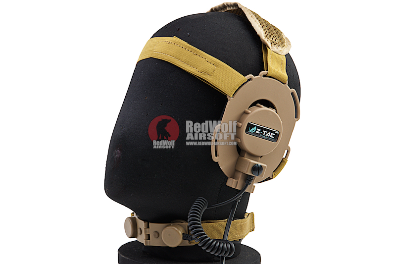 Z Tactical Bowman III Headset with Throat Mic - DE
