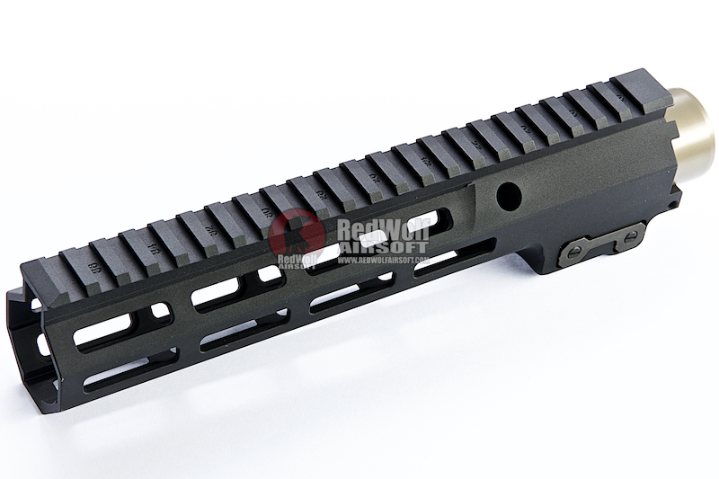 Z-Parts CNC Aluminum 9.3inch Handguard for Tokyo Marui SOPMOD M4/ M16 AEG (with MK16 Barrel Nut) - Black