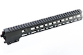 Z-Parts CNC Aluminum 13.5inch Handguard for Tokyo Marui SOPMOD M4/ M16 AEG (with MK16 Barrel Nut) - Black