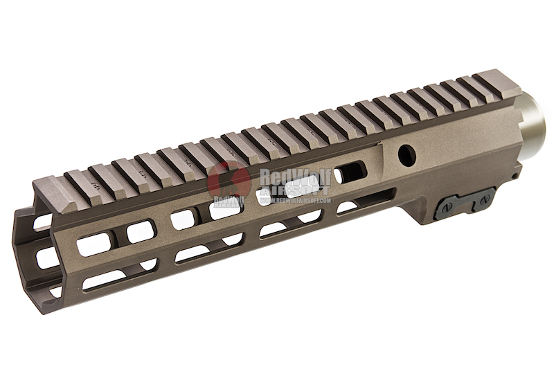 Z-Parts CNC Aluminum 9.3inch Handguard for Tokyo Marui SOPMOD M4/ M16 AEG (with MK16 Barrel Nut) - DDC