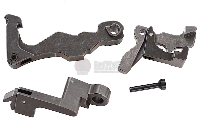 Z-Parts CNC Complete Steel Trigger Set for WE TA 2015 GBB / Cybergun P90 (WE Original Part #14, #17, #20, #21, #22, #25)