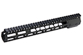 PTS ZEV Wedge Lock 12 inch Handguard for M4 AEG/ GBB/ PTW Series- Black