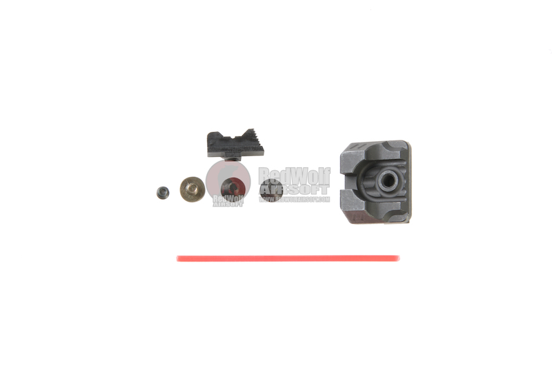 PTS ZEV Front Sight & Rear Sight for Tokyo Marui Model 17 GBB - Black