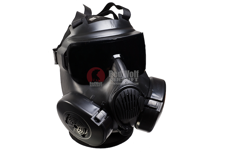 ZUJZHE M50 Full Face Fan Airsoft Mask - BK