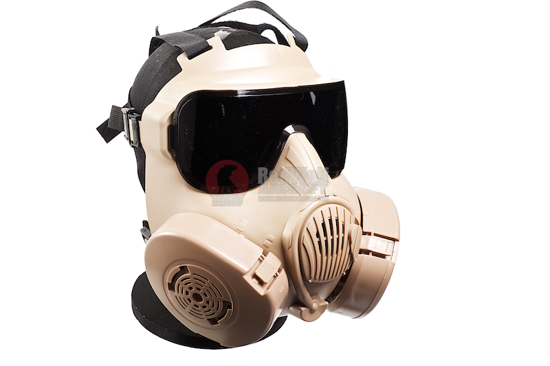 ZUJZHE M50 Full Face Fan Airsoft Mask - DE