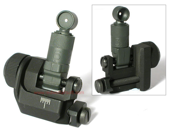 G&P Military 600M Flip Up Rear Sight