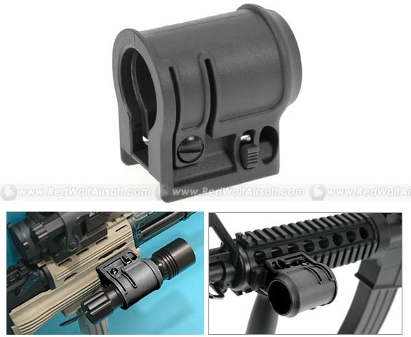 G&P AK Tactical Flashlight Mount (Black)