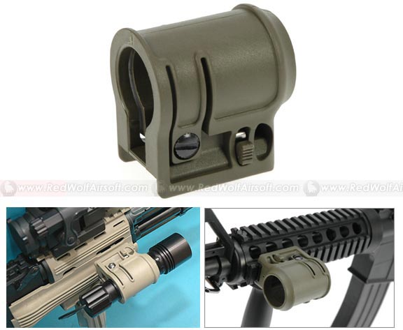 G&P AK Tactical Flashlight Mount (OD) <font color=yellow>(Clearance)</font>
