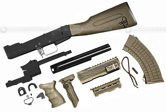 G&P AK Tactical Conversion Kit with Fixed Stock (OD)