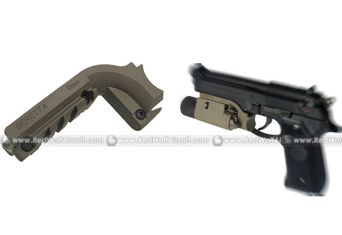 King Arms Pistol Laser Mount for M9 (Tan)