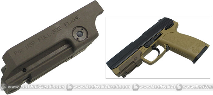 King Arms Pistol Laser Mount for USB .45 (Tan)
