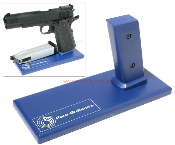 King Arms Display Stand for Pistol -ParaOrdnance/ParaOrdnance - Blue