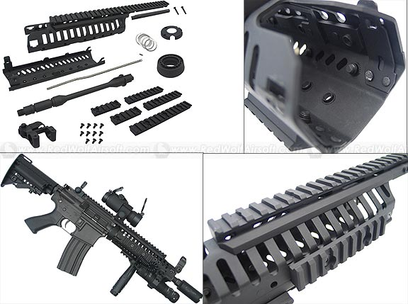 King Arms CASV Handguard Set w. 10.5 Outer Barrel (Black)