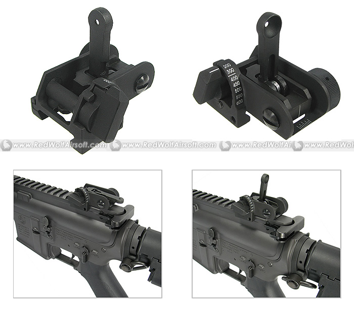 King Arms 600m Buis Flip Up Rear Sight