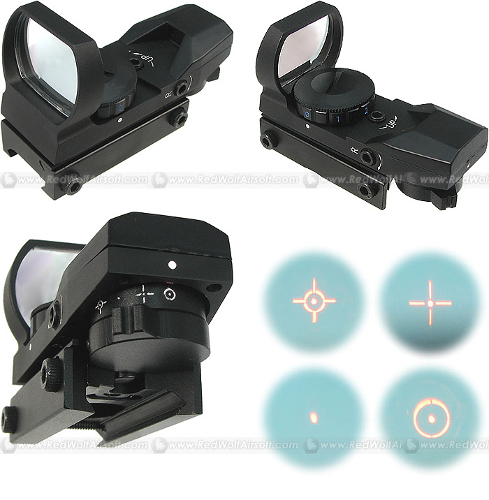 King Arms Muit Multi Reticle Red/Green Dot Sight Scope