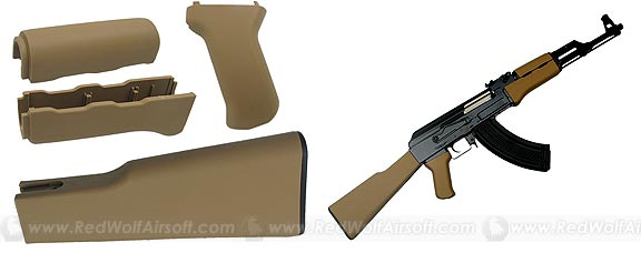 King Arms AK47 Handguard/Grip/Stock (Tan)