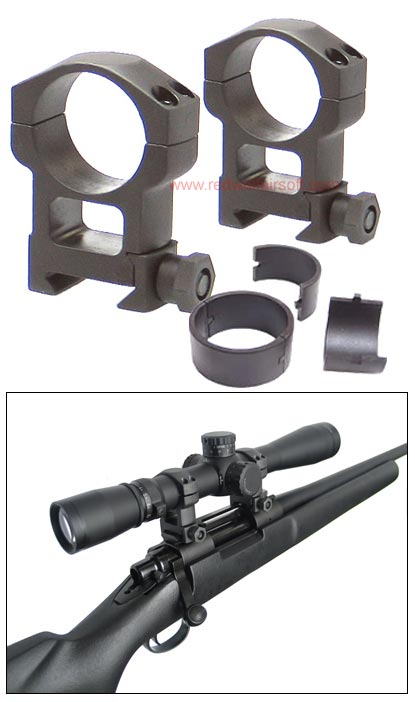 King Arms Mil-Spec steel tactical 30mm Ring - High