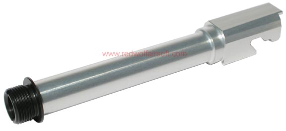 Nine Ball Outer Barrel Semi Long SAS Type (SILVER) for Marui P226