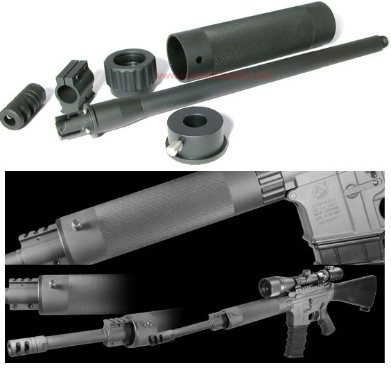 PDI AR-10 (CHECKERED) Carbine Conversion Kit for M4, M16A2