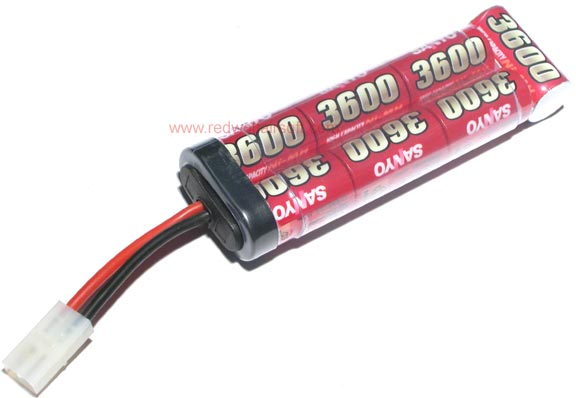 Sanyo 8.4v 3600mah Battery (NiMH) - Large Type <font color=yellow>(Clearance)</font>